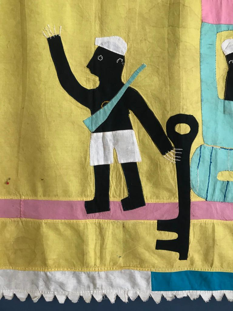 Late 20th Century Ghanese Fante Asafo Flag, 1970s For Sale