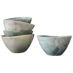 Ghen Bowl, Nephrite Jade by Robert Kuo, Hand Carved, Limited Edition