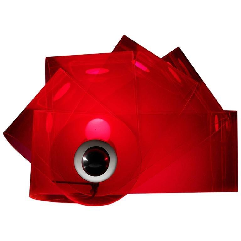 Post-Modern Gherpe Lamps by Superstudio, Italy 'White + Red' For Sale