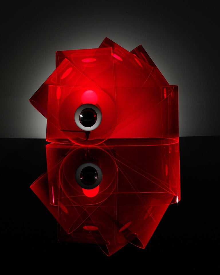 Machine-Made Gherpe Lamps by Superstudio, Italy 'White + Red' For Sale