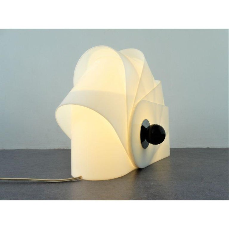 Gherpe Lamps by Superstudio, Italy 'White + Red' In Excellent Condition For Sale In Brooklyn, NY