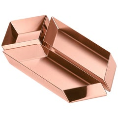 Ghidini 1961 Axonometry Small Parallelepiped Tray in Copper by Elisa Giovanni