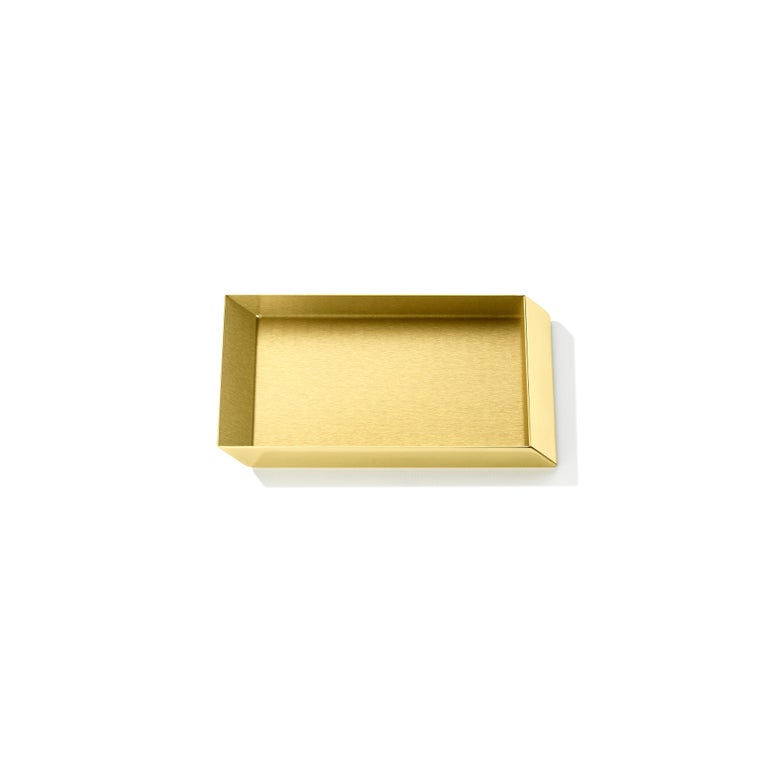 Axonometry rectangular small tray in brass by Elisa Giovanni.
