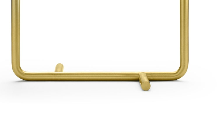 Modern Ghidini 1961 Bio Table Lamp in Satin Brass by Aldo Cibic For Sale