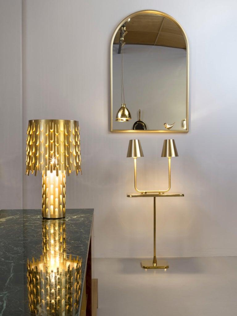 Ghidini 1961 Bio Table Lamp in Satin Brass by Aldo Cibic In New Condition For Sale In Villa Carcina, IT