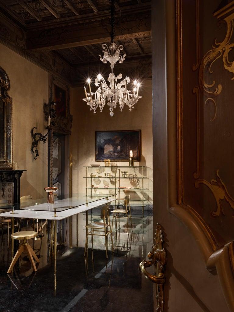 Italian Ghidini 1961 Bullet Table Lamp in Brass by Studio Job For Sale