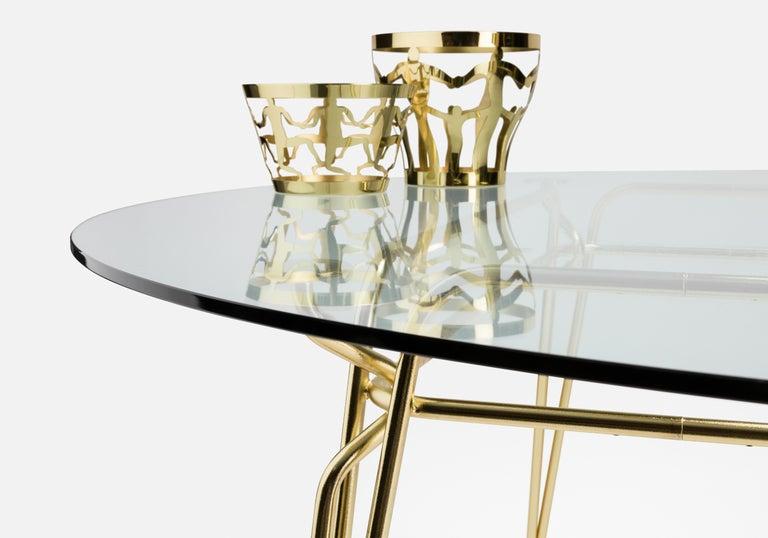Ghidini 1961 Cestino 1 Medium Bowl in Polished Brass by Andrea Branzi In New Condition For Sale In Villa Carcina, IT