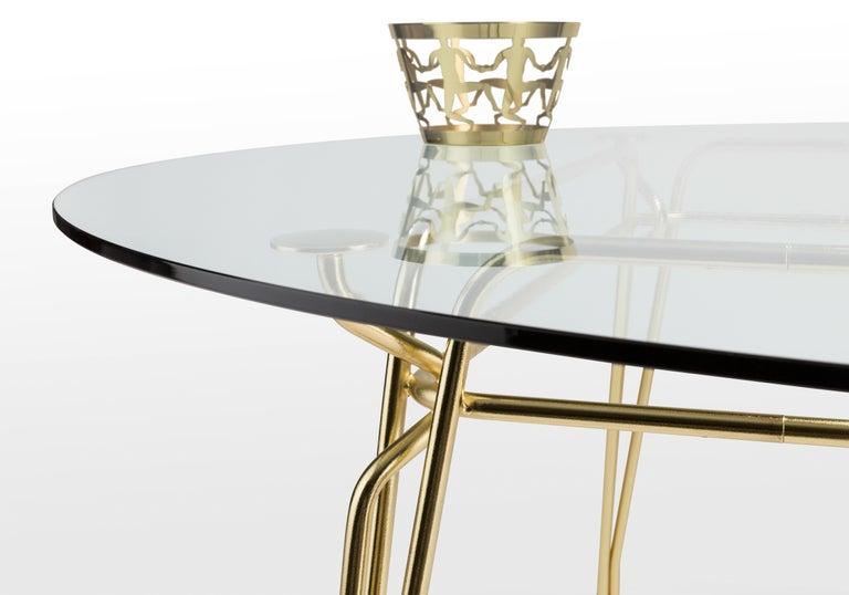 Contemporary Ghidini 1961 Cestino 1 Medium Bowl in Polished Brass by Andrea Branzi For Sale