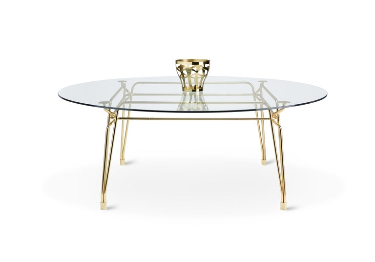 Italian Ghidini 1961 Cestino 2 Large Bowl in Polished Brass by Andrea Branzi For Sale