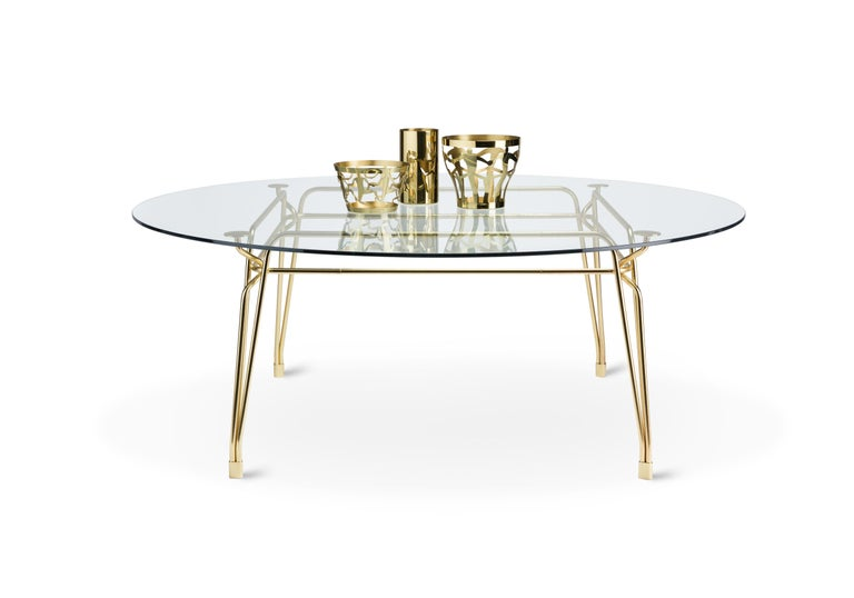 Ghidini 1961 Cestino 3 Cylinder Bowl in Polished Brass by Andrea Branzi In New Condition For Sale In Villa Carcina, IT