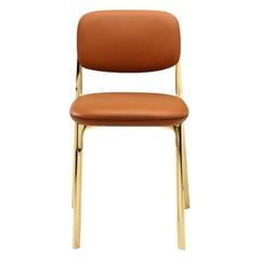 Ghidini 1961 Coast Chair in Brass and Leather by Branch Creative