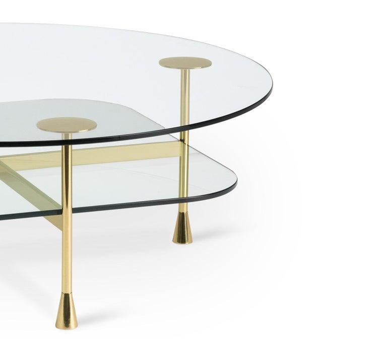 Modern Ghidini 1961 Da Vinci Round Table in Crystal by Richard Hutten For Sale