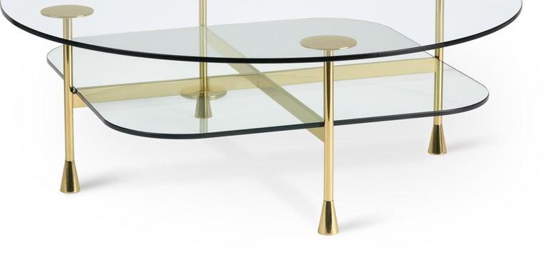 Italian Ghidini 1961 Da Vinci Round Table in Crystal by Richard Hutten For Sale