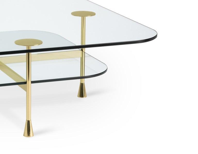 Ghidini 1961 Da Vinci Square Table in Crystal by Richard Hutten In New Condition For Sale In Villa Carcina, IT