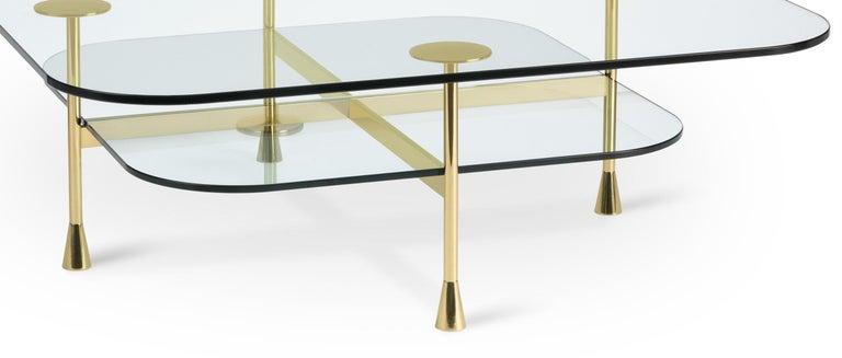 Ghidini 1961 Da Vinci Square Table in Crystal by Richard Hutten For Sale 1
