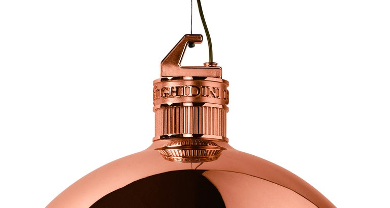 Modern Ghidini 1961 Factory Large Suspension Light in Copper by Elisa Giovanni For Sale