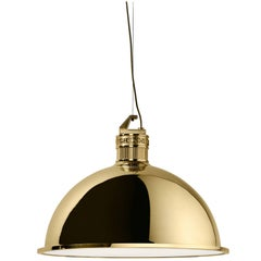 Ghidini 1961 Factory Medium Suspension Light in Polished Brass