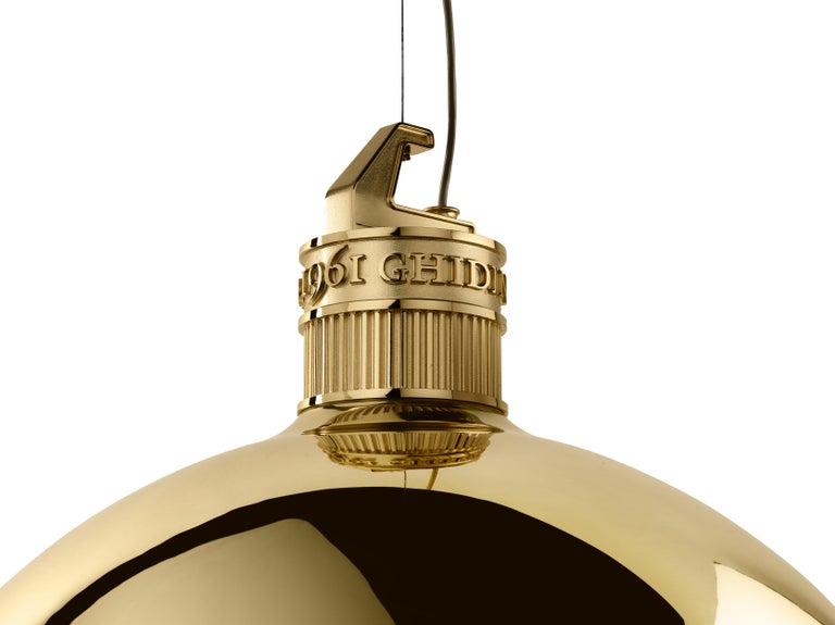 Modern Ghidini 1961 Factory Small Suspension Light in Brass by Elisa Giovanni For Sale