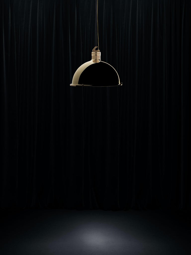 Ghidini 1961 Factory Small Suspension Light in Brass by Elisa Giovanni In New Condition For Sale In Villa Carcina, IT
