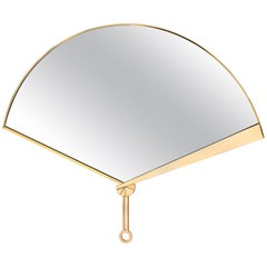 Ghidini 1961 Fan Mirror in Brass by Studio ITO