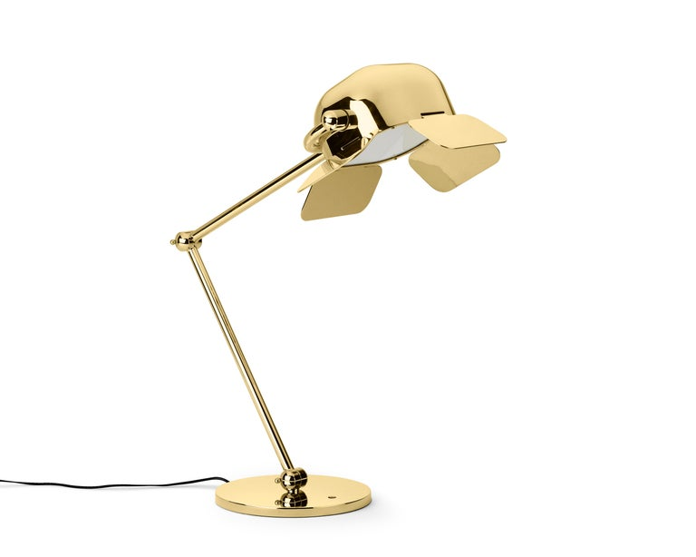 Modern Ghidini 1961 Flamingo Table Lamp in Aluminum by Nika Zupanc For Sale