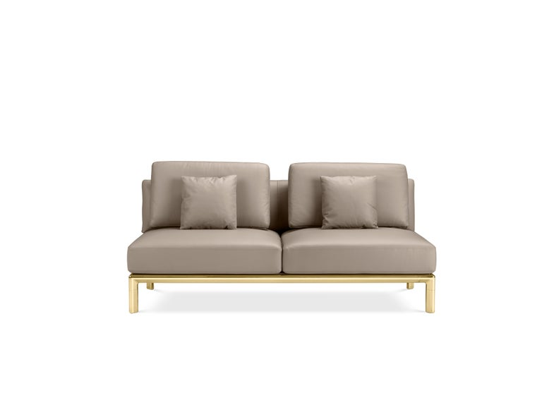Contemporary Ghidini 1961 Frame Sofa in Cuoio Leather by Stefano Giovannoni For Sale
