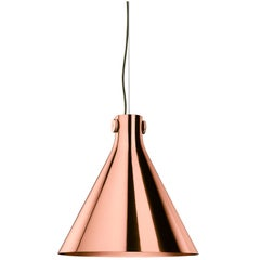 Ghidini 1961 Indi-Pendant Cone Lamp in Rose Gold Finish