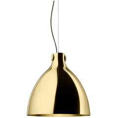 Ghidini 1961 Indi-Pendant Round Lamp in Polished Brass