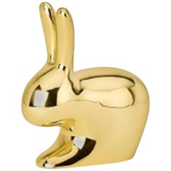 Ghidini 1961 Italian Brass Rabbit Paperweight