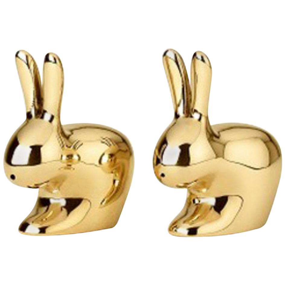 Ghidini 1961 Italian Brass Rabbit Salt and Pepper
