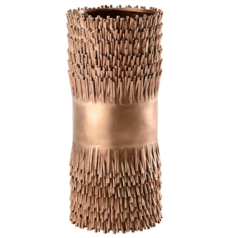 For Sale: Pink (Bronze) Ghidini 1961 Jack Fruit Sculptural Vase by Campana Brothers
