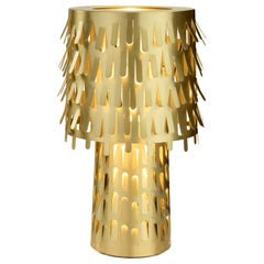 Ghidini 1961 Jack Fruit Table Lamp in Polished Brass by Campana Brothers