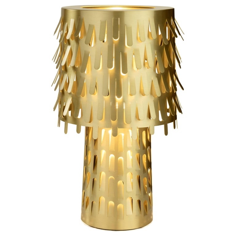 Ghidini 1961 Jack Fruit Table Lamp in Polished Brass by Campana Brothers For Sale