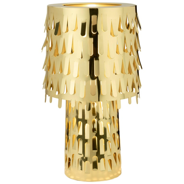 Ghidini 1961 Jack Fruit Table Lamp in Satin Brass by Campana Brothers For Sale