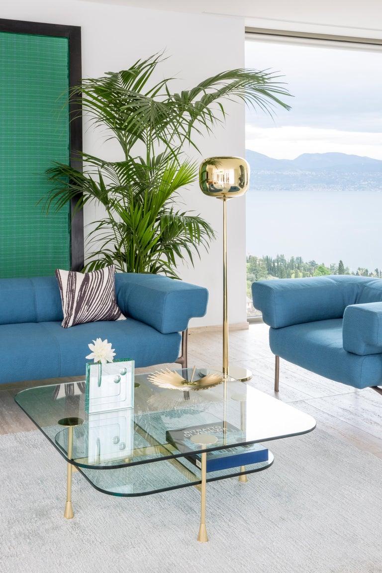 Italian Ghidini 1961 Katana 2-Seat Sofa in Fabric by Paolo Rizzatto For Sale