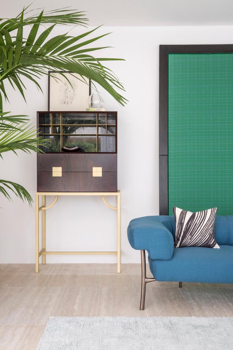 Contemporary Ghidini 1961 Katana 2-Seat Sofa in Fabric by Paolo Rizzatto For Sale