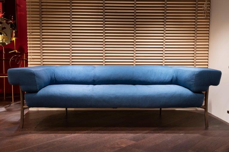 Ghidini 1961 Katana 2-Seat Sofa in Fabric by Paolo Rizzatto For Sale 2
