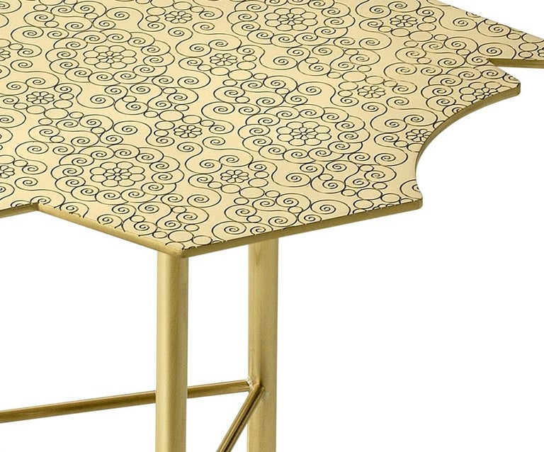 Modern Ghidini 1961 Le Ninfee Right Coffee Table in Brass by Alessandro Mendini For Sale