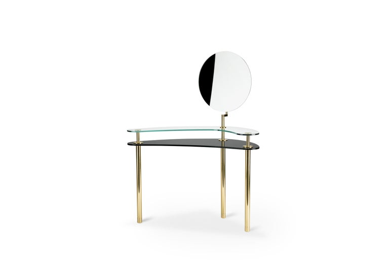 Modern Ghidini 1961 Legs Dressing Table in Sahara Noir by Paolo Rizzatto For Sale
