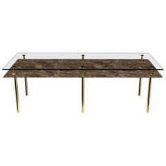 Ghidini 1961 Legs Rectangular Dining Table with Emperador Dark Marble Top