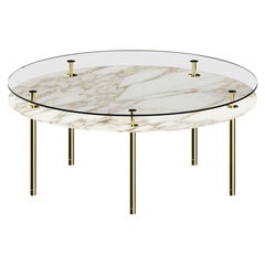 Ghidini 1961 Legs Round Dining Table with Calacatta Gold Marble Top