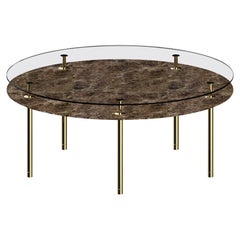 Ghidini 1961 Legs Round Table with Emperador Dark Marble Top by Paolo Rizzatto