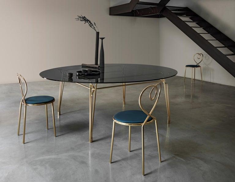 Italian Ghidini 1961 Love Chair Malachite in Polished Brass by Nika Zupanc For Sale