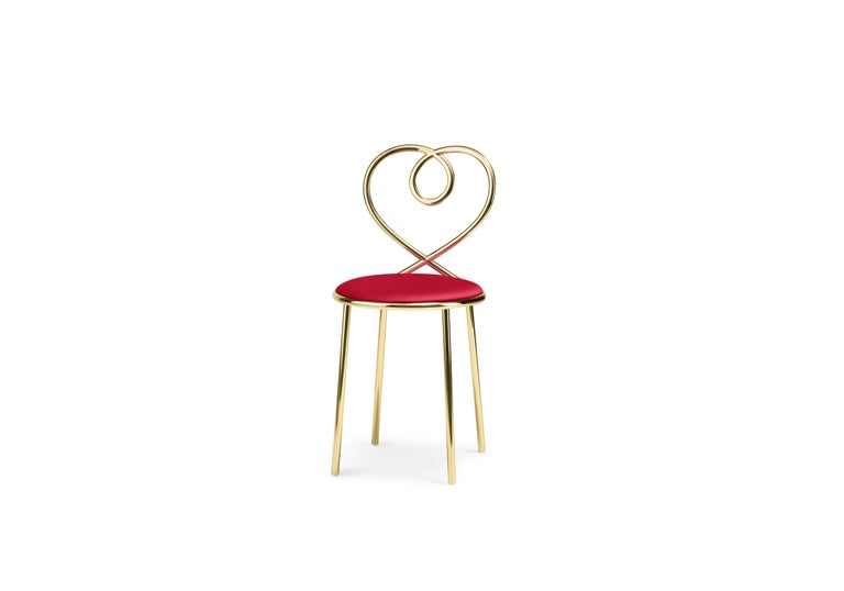 Ghidini 1961 Love Chair Rubis in Polished Brass by Nika Zupanc 2