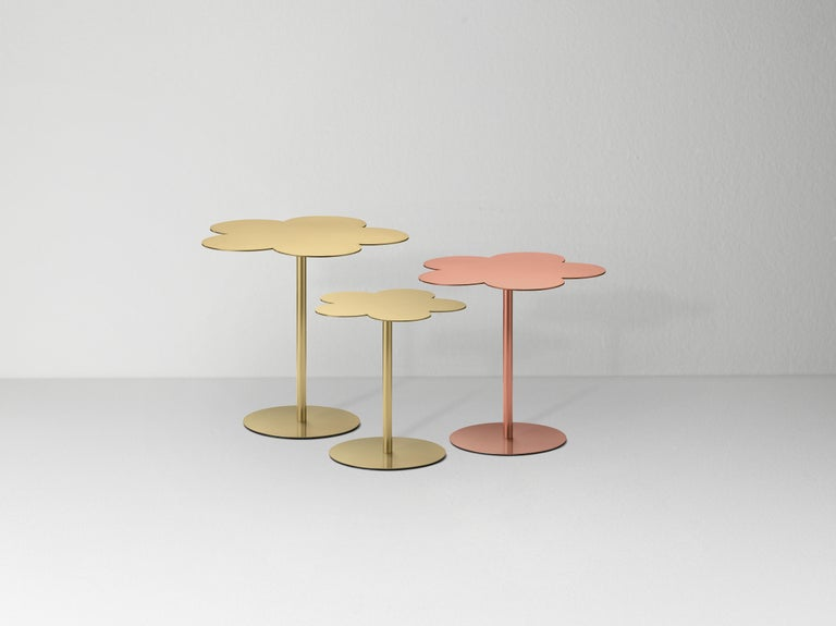 Modern Ghidini 1961 Medium Flowers Coffee Side Table in Brass by Stefano Giovannoni For Sale