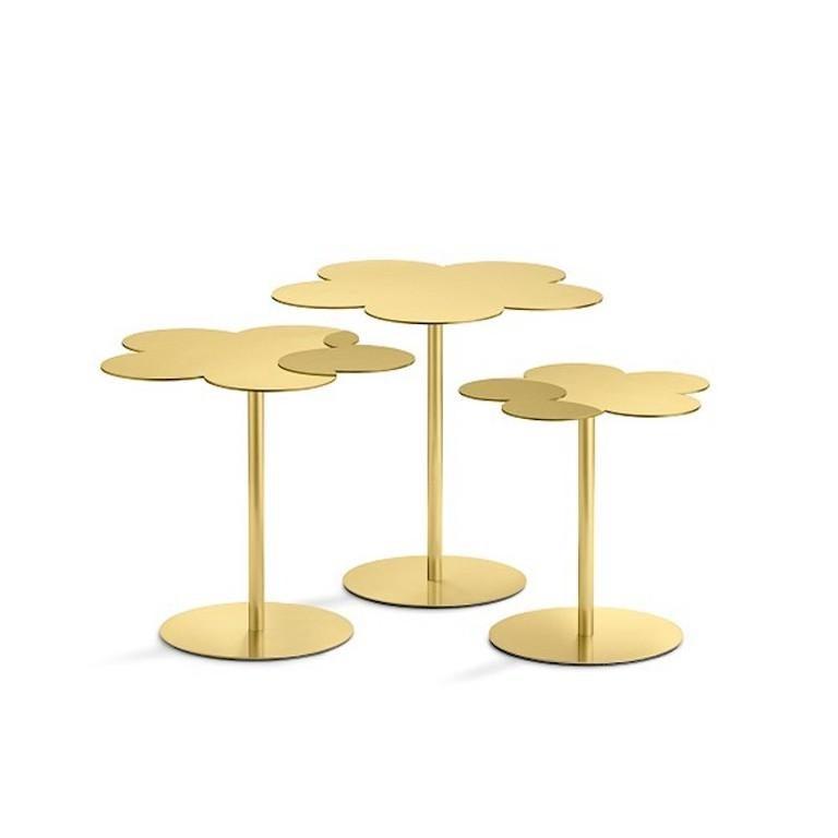 Italian Ghidini 1961 Medium Flowers Coffee Side Table in Brass by Stefano Giovannoni For Sale