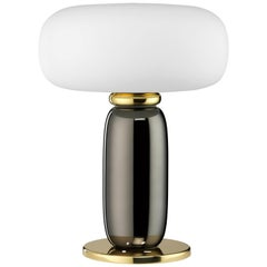 Ghidini 1961 One on One Table Lamp in Polished Brass and Glass by Branch