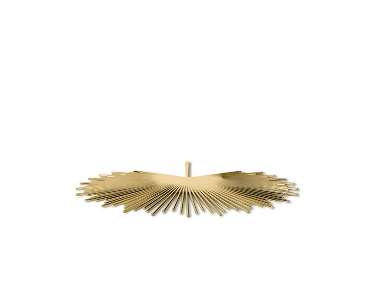 Modern Ghidini 1961 Palm Tray in Brass by Nika Zupanc For Sale