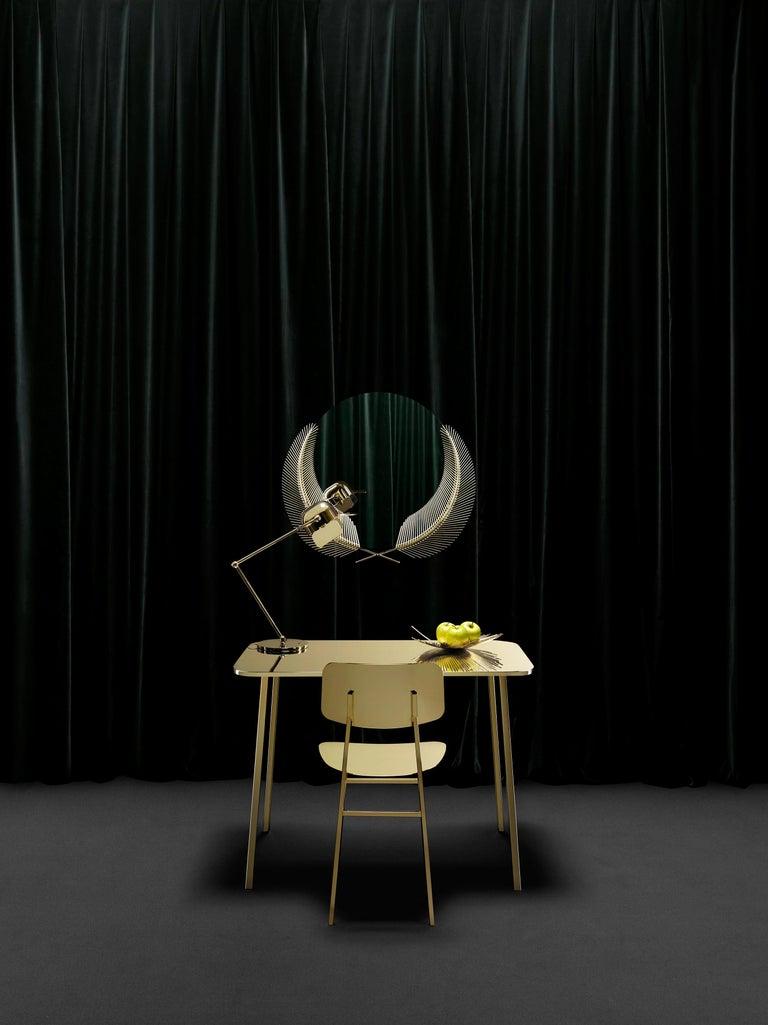Modern Ghidini 1961 Sunset Medium Mirror in Brass by Nika Zupanc For Sale