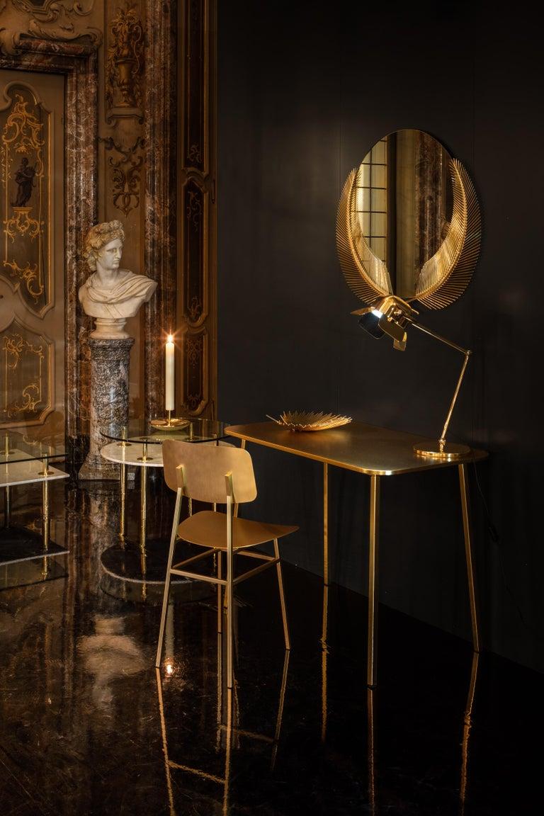 Italian Ghidini 1961 Sunset Medium Mirror in Brass by Nika Zupanc For Sale